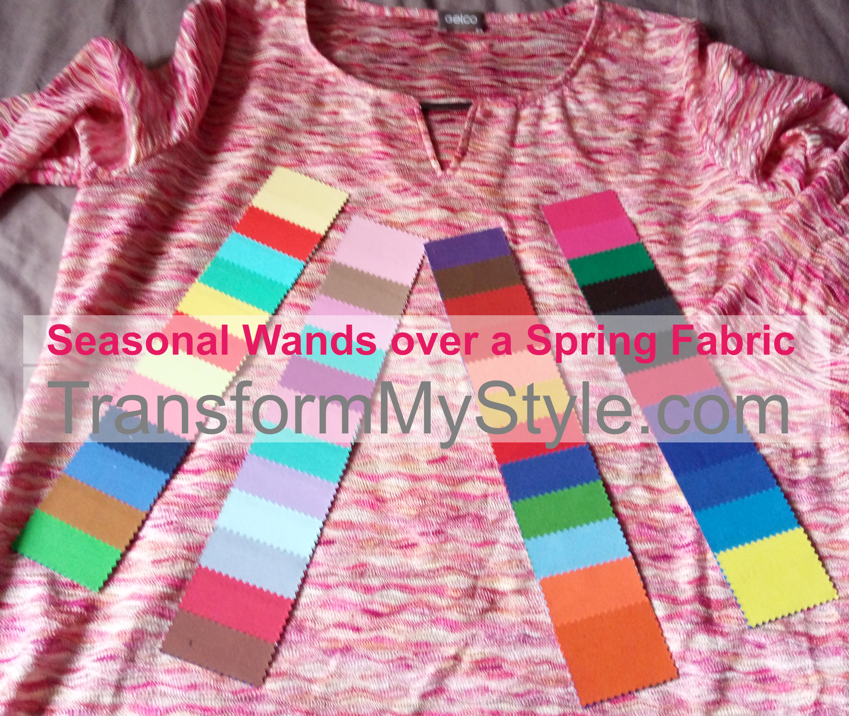 How to use colour analysis swatches and wands for shopping