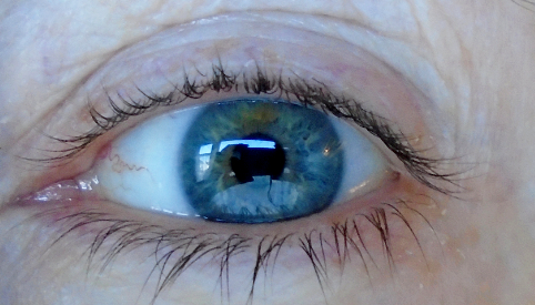 Colour Analysis, close up view of my eye colours